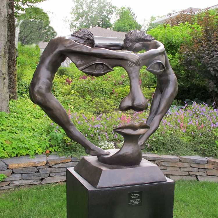 Abstract Garden Sculpture Man And Woman Statues