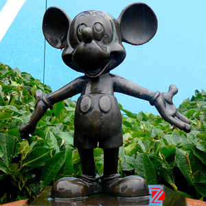 BRONZE BIG MICKEY MOUSE SCULPTURE DZB-14