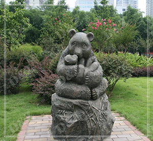 CHINESE PANDA BRONZE OUTDOOR SCULPTURE WITH BABY DZ-PANDA11
