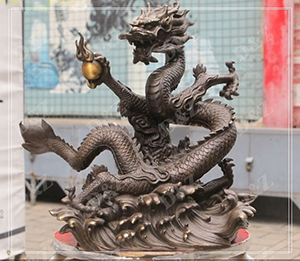 DRAGON STATUE CAST BRONZE DECOR WATER FOUNTAIN DZ-DRAGON17