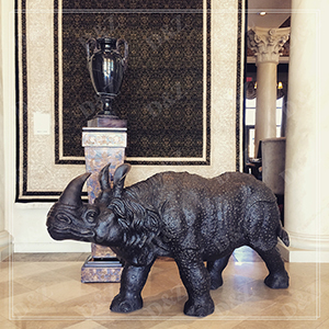 HOME DECOR BRONZE ART STATUE RHINOCEROS FOR SALE DZ-RHINOCEROS12