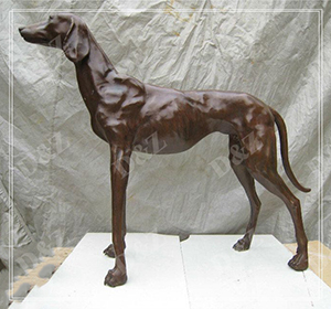 LIFE SIZE DOG STATUE OUTDOOR ANIMAL DECOR DZ-DOG18
