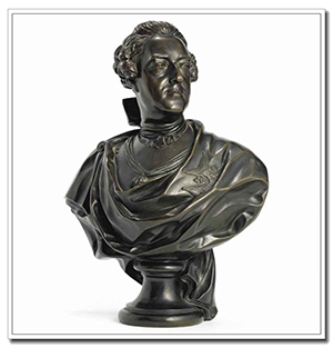 Louis XV bust statue