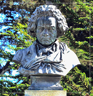 famous Beethoven bronze bust
