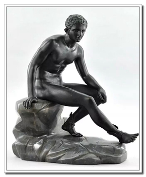 Seated Hermes famouse greek sculpture