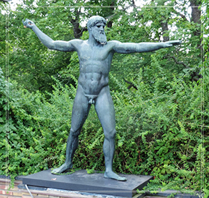 life size greek god statue poseidon