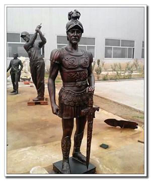 life size roman soldier statue