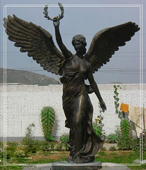 life size victory bronze statue
