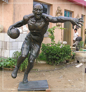 muscle man playing basketball