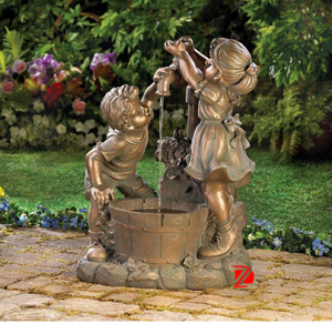 Bronze child fountain