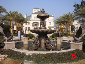 Bronze large garden fountain
