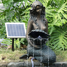 casting bronze life size garden mermaid water fountain