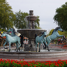 large bronze horse garden fountain sculpture