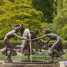 three greek goddess bronze garden fountain