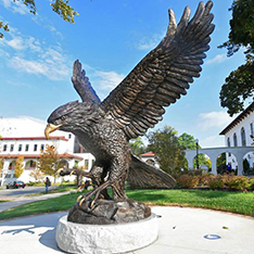 large outdoor animal bronze sculpture eagle statue