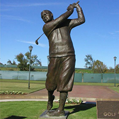 metal life size golfer statue for outdoor decorative