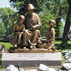 National Shrine of Saint Elizabeth Ann Seton teaching bronze statue