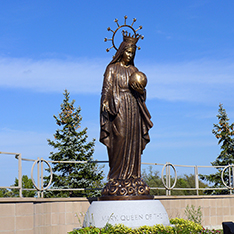 church decoration bronze virgin mary statue