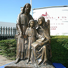 holy family statue for church garden decoration