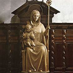 metal casting bronze virgin mary and baby jesus statue