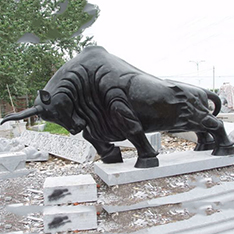 natural black marble all kinds of bullfight sculpture