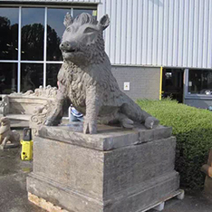 old feeling stone wild boar statues for garden
