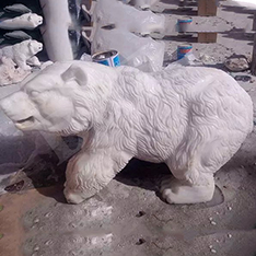 white marble artificial life size bear statue