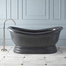 Popular black natural stone bathtub for sale