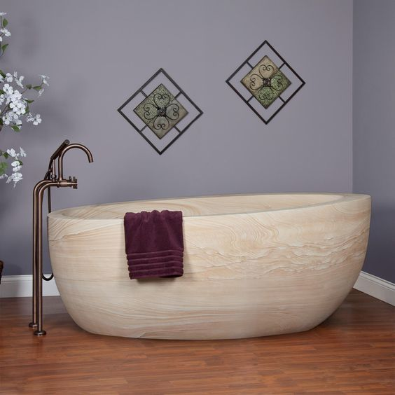 custom made travertine portable bathtub for adults
