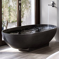 natural black marble freestanding bathtub