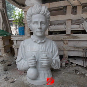 Madame Curie bust sculpture