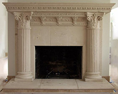 factory wholesale fireplace mantel with cloumn