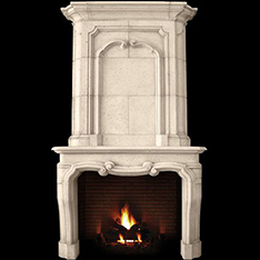 large white marble fireplace mantel