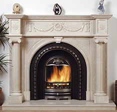 marble ethanol fireplace