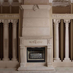 natural stone shabby chic fireplace mantel