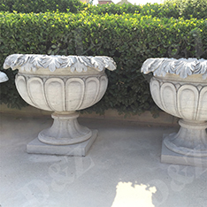 cheap pair of stone flower pot sculpture