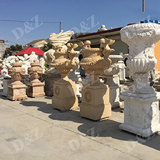 natural stone custom made flower pots wholesale