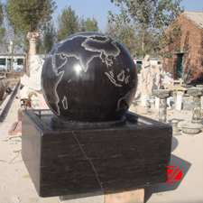 Black marble ball fountain