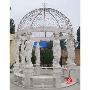 White marble lady gazebo