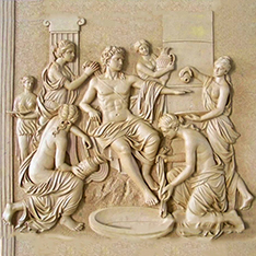 Apollo bath wall decor