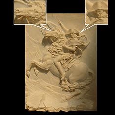 Napoleon riding relief