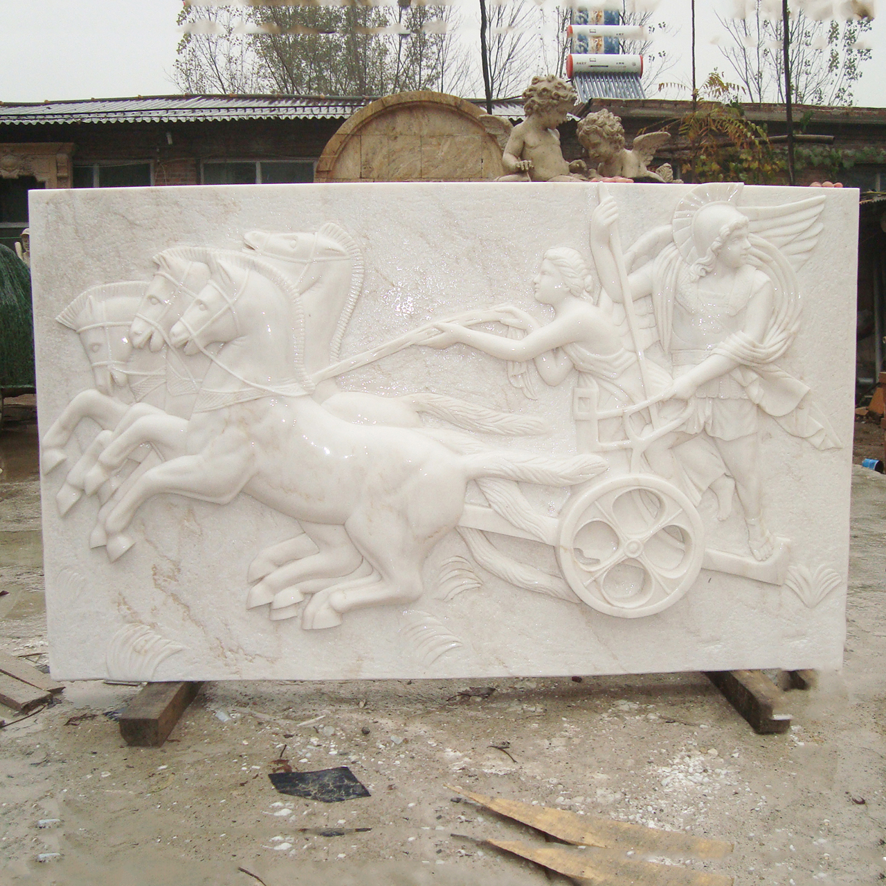 horse relief sculpture
