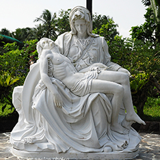 Natural white marble sculpture The Pieta