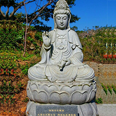 sitting kwan yin stone sculptures