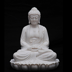 white stone custom made meditative buddha mold