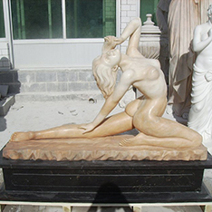 marble sexy woman statue