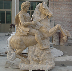 riding horse statues