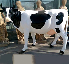 Hot sale life size cow staue