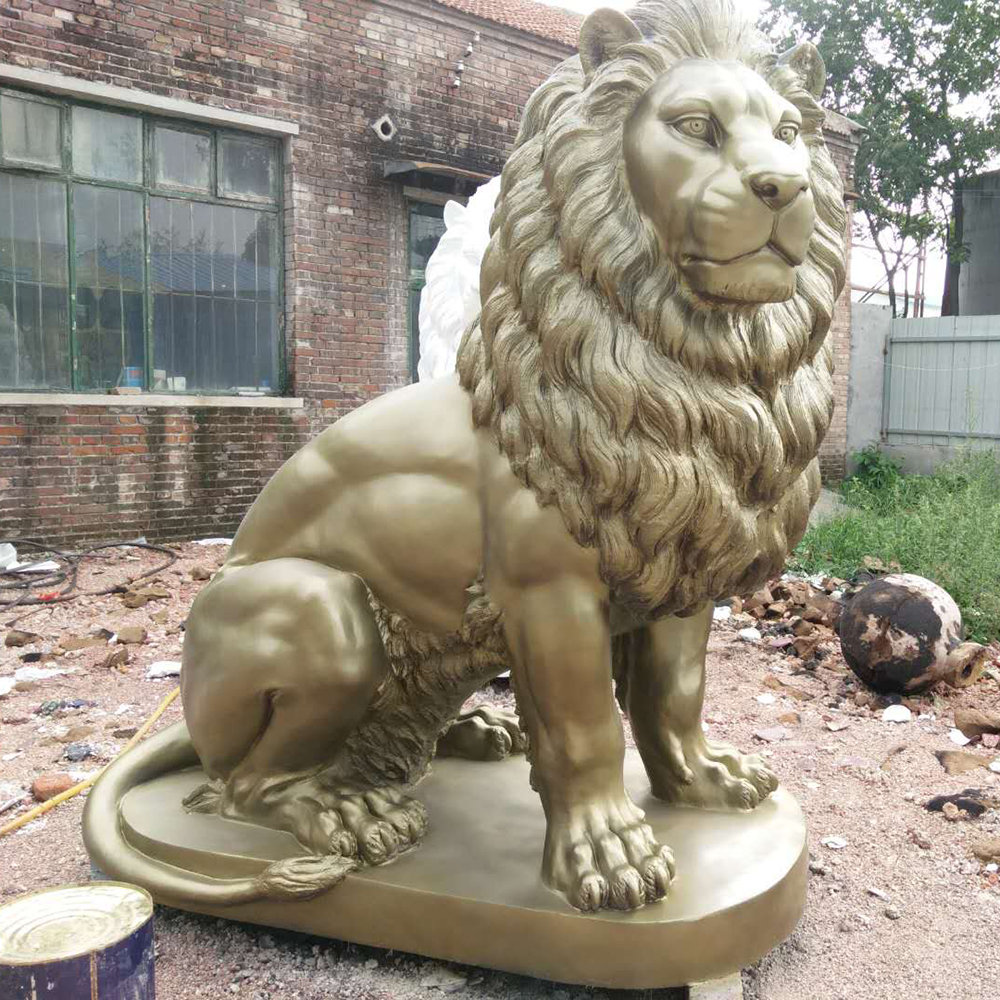 Hot sale modern design fiberglass lion sculpture