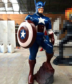 Custom action character Amercian captain sculpture